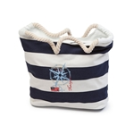 Sebago Canvas Striped Shopping Bag L