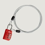 Eagle Creek 3-Dial TSA Lock & Cable, Orange