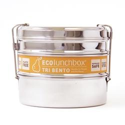 ECOlunchbox Rund tredelad matlåda Tri Bento