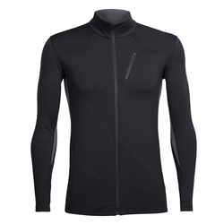 Icebreaker Mens Fluid Zone LS Zip