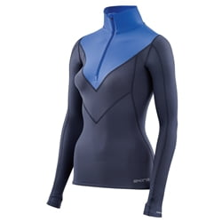 Skins Dnamic Thermal Long Sleeve Top With Mock Neck & Zip Women - Kompressionströja för vinterbruk för damer