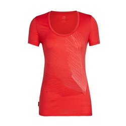 Icebreaker Womens Tech Lite SS Scoop Plume