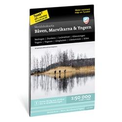 Calazo Skridskokarta Båven, Marvikarna & Yngern 1:50.000
