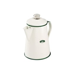 GSI Deluxe Enamelware  8 Cup Perc Cream