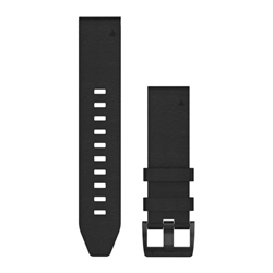 Garmin Watchband 22Mm Quickfit Black Leather Band - Armband till Garmin Fenix 5 Plus