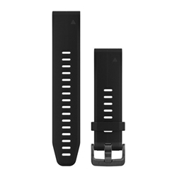 Garmin Watchband 20Mm Quickfit Black Silicone Band - Armband till Garmin Fenix 5S Plus