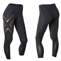 2Xu Elite Mcs Compression Tights Black/Yellowd – Woman