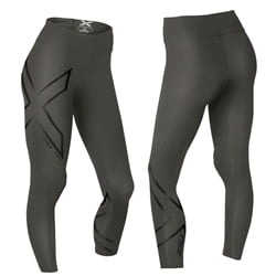 2Xu Hyoptik Midrise Compression Tights Woman Black/Black Reflective