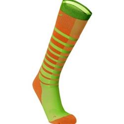 2Xu Striped Run Compression  Orange/Ljusgreen - Sockor