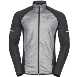 Odlo Jacket Hybrid Seamless Irbis Men Black/Concrete Grey