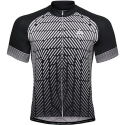 Odlo Stand-Up Collar S/S Full Zip Fujin Print M  Black/Silver Grey