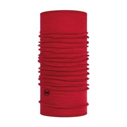 Buff Lightweight Merino Wool Solid Red - Tubhalsduk