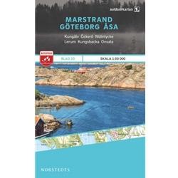 Norstedts Blad 20 Marstrand-Göteborg-Åsa 1:50 000