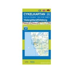 Norstedts Cykelkartan Blad 12 Västergötland/Göteborg