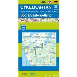 Norstedts Cykelkartan Blad 13 Södra Västergötland
