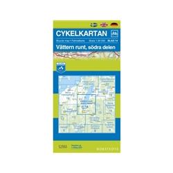 Norstedts Cykelkartan Blad 14 Vättern Runt, Södra Delen