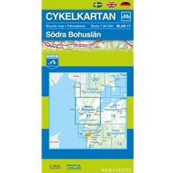 Norstedts Cykelkartan Blad 17 Södra Bohuslän