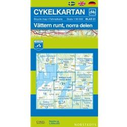Norstedts Cykelkartan Blad 21 Vättern Runt, Norra Delen