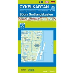 Norstedts Cykelkartan Blad 9 Södra Smålandskusten