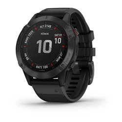 Garmin Fenix 6 Pro Black W/Black Band Gps Watch - Multisportklocka
