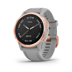 Garmin Fenix 6S Sapphire Rose Gold W/Gray Band Gps Watch - Multisportklocka i mindre format