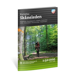 Calazo Friluftsatlas Skåneleden 1:50.000
