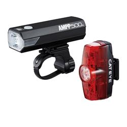 Cateye Ampp500 & Rapid Mini Kit  Black