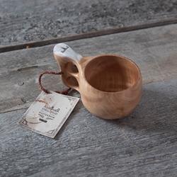 Lemmel Kaffe Träkåsa I Björkvril Med Renhorn
