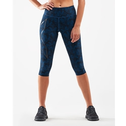 2Xu Print Mid-Rise Comp 3/4 Tights Women