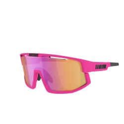 Bliz Vision Matt Neon Pink, Brown With Purple Multi