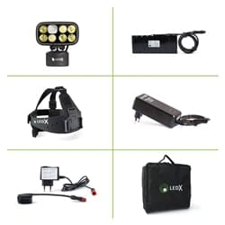 Ledx Cobra 6 500 X-Pand Kit, Backup Battery And Automatic Charger