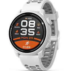 Coros Pace 2 White With Silicone Band